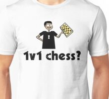 1v1 chess? (Chess Nerd) Unisex T-Shirt