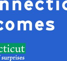 Connecticut Welcomes You, Road Sign, USA Sticker