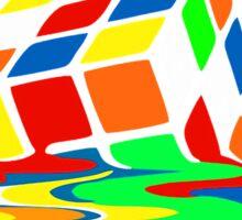 1 Big Bang Theory Sheldon Cooper Melting Rubik's Cube cool geek Sticker