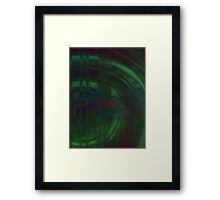 ABSTRACT SCUFFED RIM GREEN  Framed Print