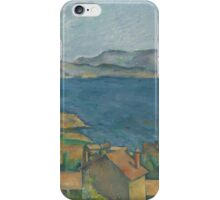 Paul Cezanne - The Bay of Marseilles, Seen from L'Estaque  1885 iPhone Case/Skin