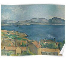 Paul Cezanne - The Bay of Marseilles, Seen from L'Estaque  1885 Poster
