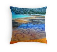 Artist's palette.... Hot spring in Yellowstone Nationa Park, USA Throw Pillow