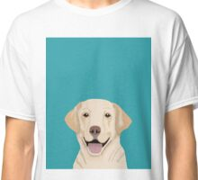 Golden Labrador retriever pet friendly dog art dog breed pet gifts for dog person with golden retriever labrador breed Classic T-Shirt