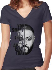 DJ Khaled : YOU SMART Women's Fitted V-Neck T-Shirt