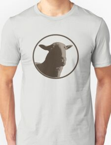 Black sheep on a variety of colorful backgrounds T-Shirt