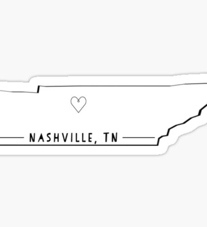 Nashville, TN home is where heart is  Sticker