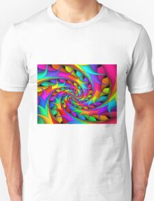 Psychedelic Rainbow 3D Spiral T-Shirt