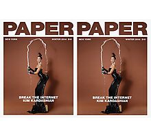 KIM for paper magazine Double Sided Photographic Print