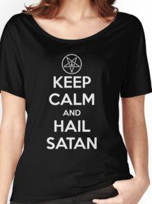 Keep Calm and Hail Satan Women's Relaxed Fit T-Shirt