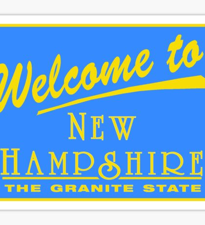 Welcome to New Hampshire, Road Sign, USA Sticker