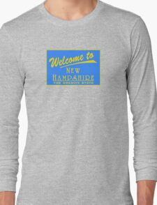 Welcome to New Hampshire, Road Sign, USA Long Sleeve T-Shirt