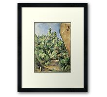Paul Cezanne - The Red Rock  1895 Impressionism  Landscape Framed Print