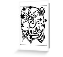 Rachel Doodle Art - Project Healthy Greeting Card