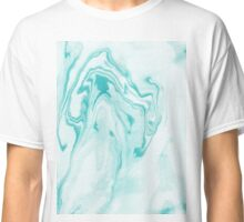 Aimi - spilled ink abstract marble painting aqua water wave waves ocean topography map maps Classic T-Shirt
