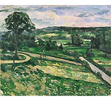 Paul Cezanne - The Tree by the Bend 1881 - 1882 Impressionism  Landscape Photographic Print