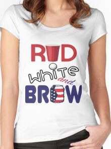 Red White and Brew  Women's Fitted Scoop T-Shirt