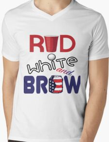 Red White and Brew  Mens V-Neck T-Shirt
