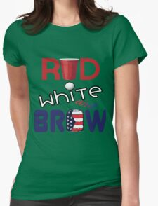 Red White and Brew  Womens Fitted T-Shirt