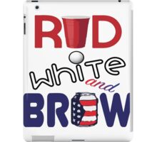 Red White and Brew  iPad Case/Skin