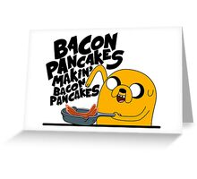 Bacon Pancakes - Adventure Time Greeting Card