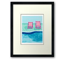 Vay-K - poolside throwback palm springs resort vacation country club retro minimal abstract hipster 1980s desert palm art Framed Print