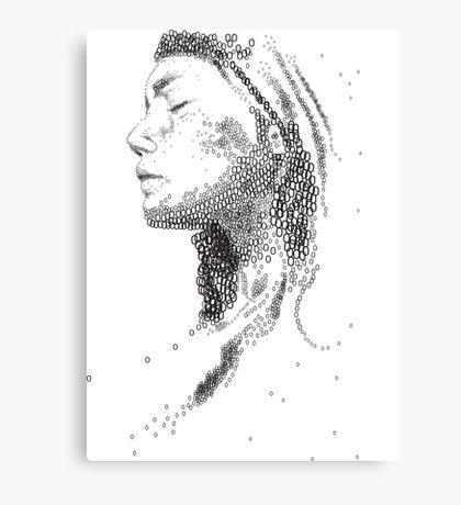 Typography woman portrait Canvas Print