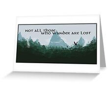 Lord of The Rings Tolkien Travel Quote Greeting Card