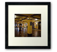 Yellow Train Station! Framed Print
