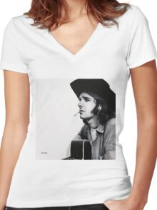 Glenn Frey Women's Fitted V-Neck T-Shirt