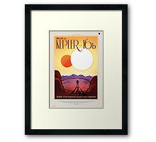 Kepler - 16b Nasa Space Travel Poster Framed Print
