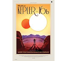 Kepler - 16b Nasa Space Travel Poster Photographic Print