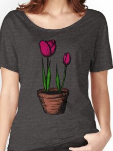 Potted Tulips Women's Relaxed Fit T-Shirt