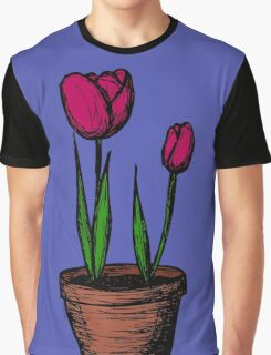 Potted Tulips Graphic T-Shirt