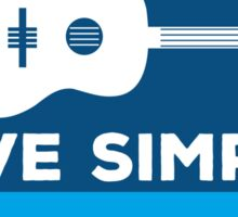 Living Simply Sticker