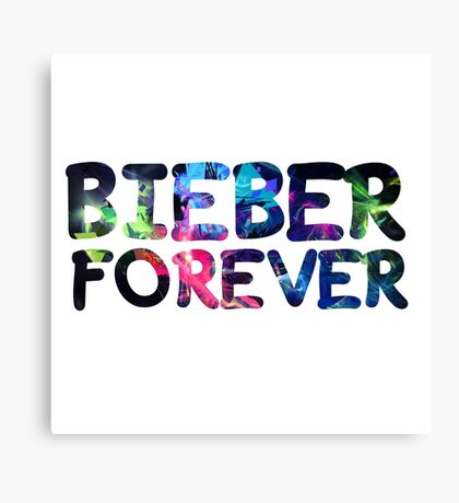 Justin Bieber Forever Canvas Print