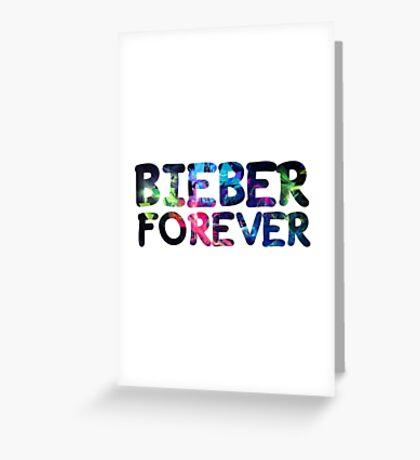 Justin Bieber Forever Greeting Card