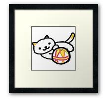 Neko atsume - Playful Cat Framed Print
