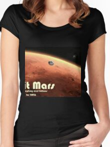 Mars Nasa Travel Poster - Illustrated Version Women's Fitted Scoop T-Shirt