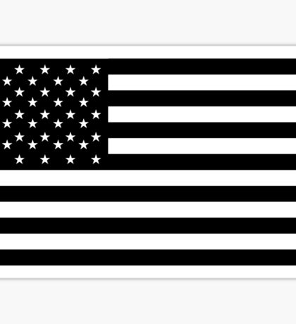 American Flag, STARS & STRIPES, USA, America, Americana, Funeral, Mourning, in Mourning, Black on Black Sticker