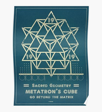 SACRED GEOMETRY METATRON MATRIX Poster