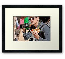 Multi Tasker Framed Print