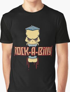 Rock-A-Billy Skull Graphic T-Shirt
