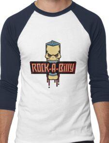 Rock-A-Billy Skull Men's Baseball ¾ T-Shirt
