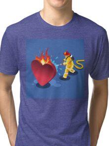 Sick Heart and Fireman Tri-blend T-Shirt