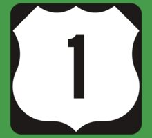 US Route 1 Sign, USA - Regular Version Kids Tee