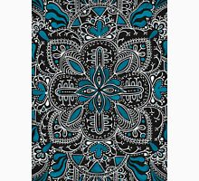 Black, white, turquoise mandala pattern  Classic T-Shirt