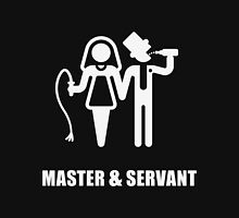 Master & Servant (Wedding / White) Womens Fitted T-Shirt
