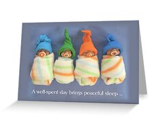 Babies with Soothers: Clay Babies, Peaceful Sleep Greeting Card