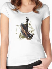 Captain Squid At Sea Women's Fitted Scoop T-Shirt